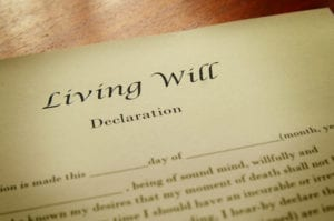 living will is a legal document in which a person lays